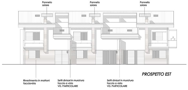 3 3 case a schiera fondo rosaio dr gaetano zanoli for Prospetti di case moderne