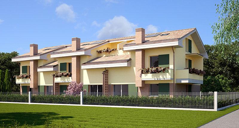 3 3 case a schiera fondo rosaio dr gaetano zanoli for Palazzine moderne