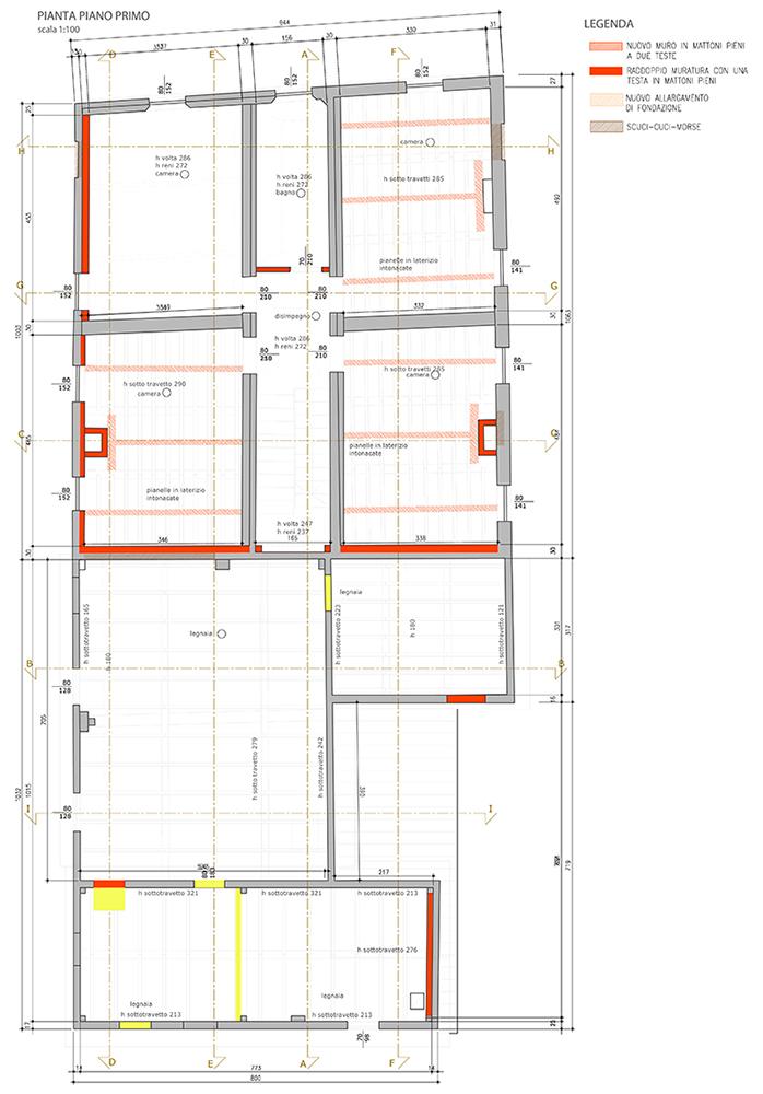 Adeguamento sismico di casa con esito e3 dr gaetano zanoli - Tracce su muri portanti ...