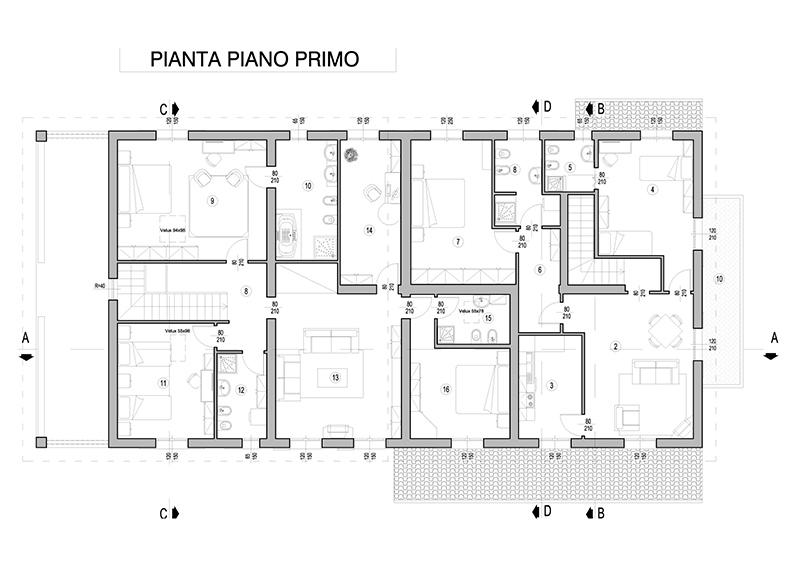 Casa a 3 alloggi con duplex tipo a dr gaetano zanoli for Piani immobiliari