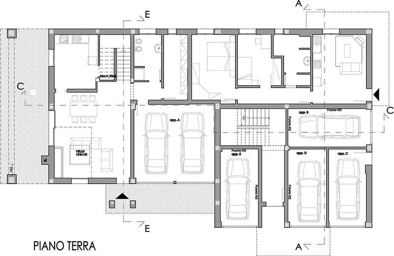 Edificio a 4 alloggi con duplex dr gaetano zanoli for Software di piano terra residenziale