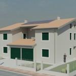 Nuova costruzione di due case abbinate speculari